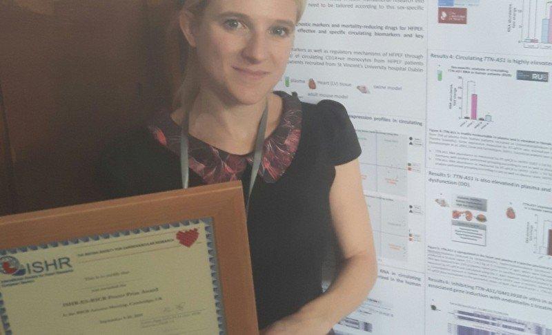 ISHR-ES BSCR prize for Dr Emma Louise Robinson